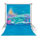 Ocean Photography Backdrop Baby Shower Under the Sea Ariel Princess Little Mermaid Rocks Corals Photo Studio Backdrop Background