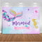 Little mermaid backdrop for photography newborn baby shower customize party decoration supplies background for photo studio prop