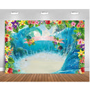 Ocean Luau Birthday Party Background Aloha Summer Moana Party Banner Photo Booth Photography Backdrops Decoration