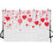 Background photography lovely couple pink love heart backdrop brick wall studio photo booth valentines day celebration