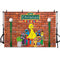 Custom Name Sesame Street Brick Wall Photography Backdrop Boy Girl Baby Shower Birthday Party Banner Supplies Cake Table Background Decoration Photo booth Props