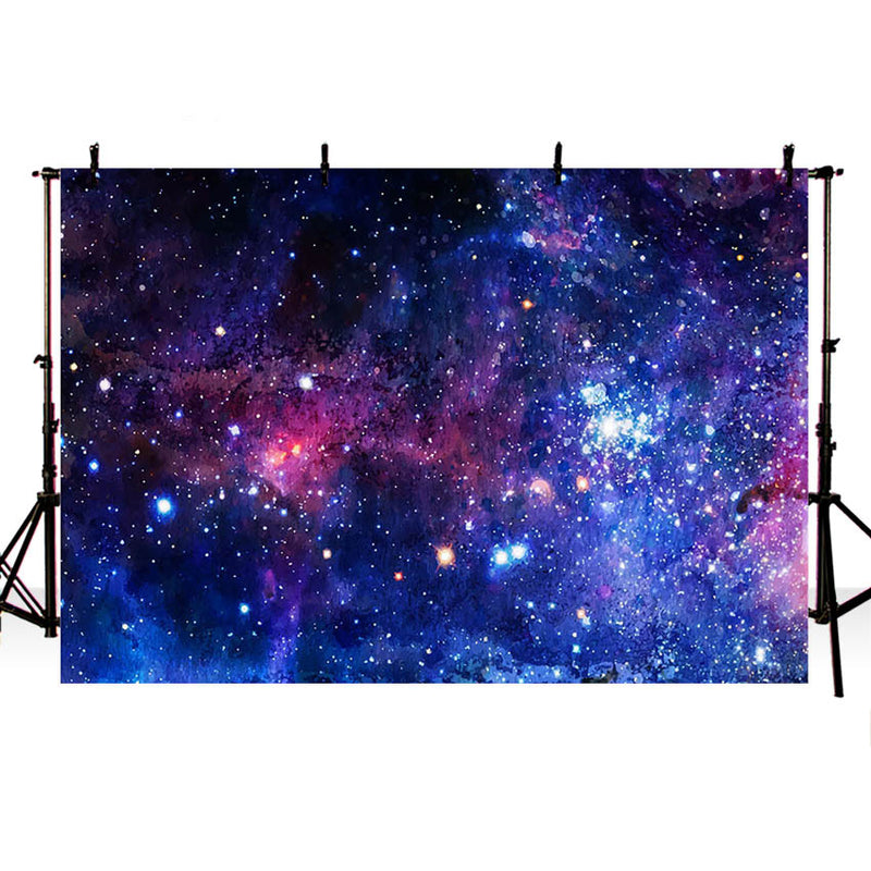 Galactic System Outer Space Background Magic Starry Sky Birthday Party Decorations Photography Backdrop