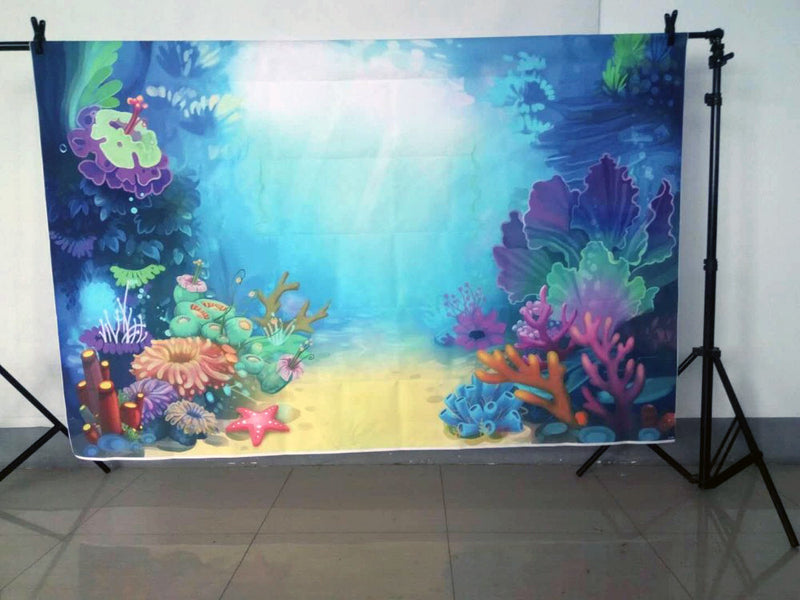 Little Mermaid Under Sea Bed Castle Corals Ariel Princess Photography Backdrop Baby Party Birthday photo background