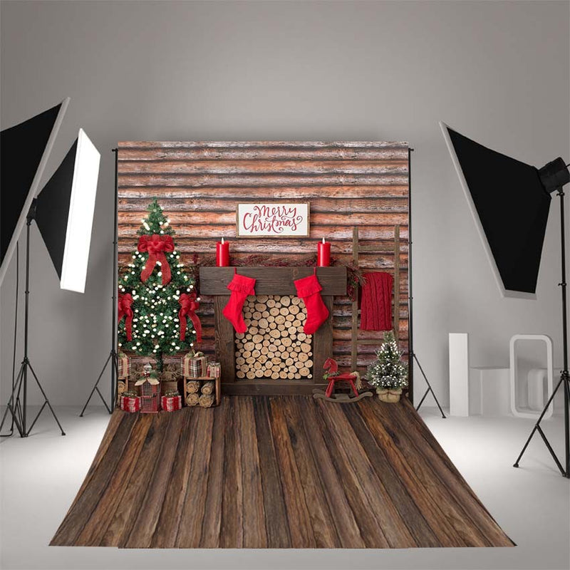 Photography Backdrops Christmas backdrop Decoration Birthday Party Fotografia Photo Backgrounds Christmas fireplace