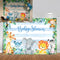 Safari Animals Baby Shower Backdrop Jungle Safari Party Photography Background Safari Baby Shower Party Backdrops