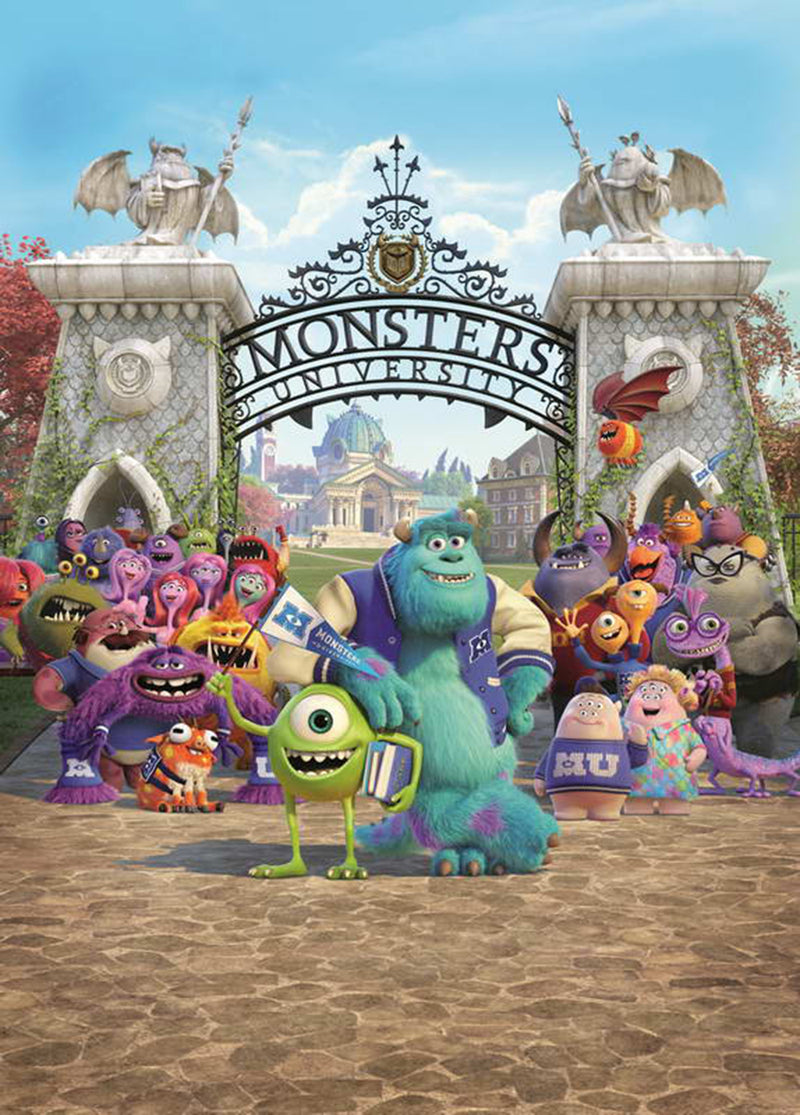 Monsters Photography Backdrops Cartoon Movie Children Vinyl Photography For Backdrop Digital Printed Photo Backgrounds For Photo Studio