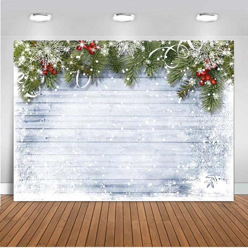 Wood Photography Backdrops Christmas Background Backdrops Wooden Snowflake Home Party Decoration Props Xmas Vinyl photo Backdrop