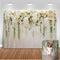 Bridal Shower backdrops Large Wedding Floral Wall Backdrop White and Green Flowers Photo Baby Shower Backdrop