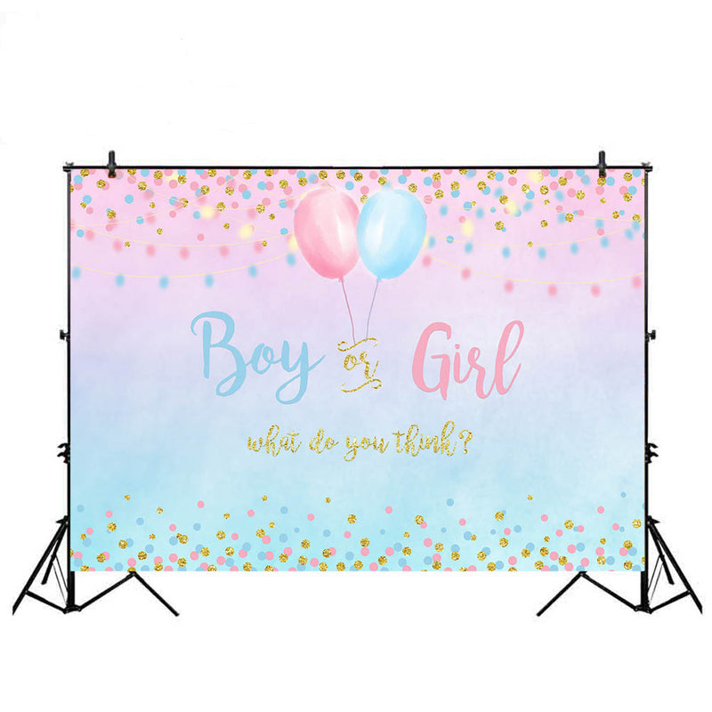 Gender Boy or Girl Party Decoration Banner Photo Background Glitter Design Photography Backdrop Balloon backdrop