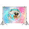 Newborn Little Princess Backdrops for Photography Glitter Baby Shower Backgrounds for Photo Shoot Studio Mermaid Shell