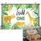 Wild One Birthday Backdrop Jungle Animals Party Photo Background Gold Safari Tropical Leaves Backdrops for Boy Birthday