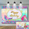 Mermaid Photography Background Underwater Theme Birthday Party Decoration Glitter Scales Backdrop for Photo Studio