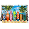 Tropical Backdrop Surfboard Backdrop for Photography Beach Backdrop Hawaii Backdrop Summer Backdrop Decoration Party
