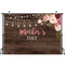 Mother's Day Backdrop for Photography Wood Floor Background for Photo Booth Studio Party Decoration Banner Celebration