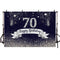 Navy blue 70th birthday background for party decoration Sliver glitter backdrop for photography studio customize backdrops vinyl
