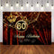 Custom Photography Background Adult Luxury Birthday Party Decor Flash Gold Crown Banner Red Backdrop Photo Studio