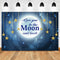 Love You to the Moon and Back Backdrop Baby Shower Newborn Twinkle Twinkle Little Star Backdrops Birthday Background