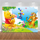 Photography Backgrounds Winnie The Pooh Tigger Theme Flowers Children Professional Indoor Studio Photo Backdrop