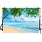 Summer Beach Photographic Background Holiday Blue Sea Sky Beach Island Sun Banner Backdrop Photocall