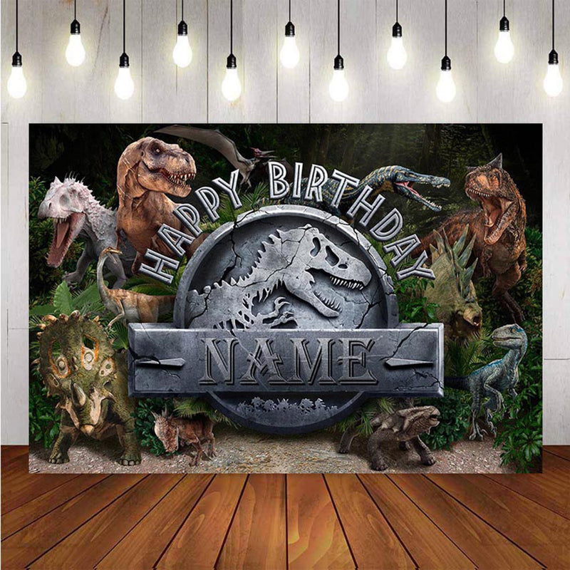 Animals Photography Backdrops Children Custom Jurassic Park World Dinosaur Birthday Background Party Backdrops Photo Studio
