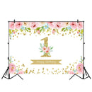 1st Birthday Party Decoration Backdrop for Photography Newborn Baby Shower Photo Background Flowers Party