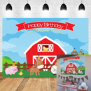 Farm Backdrop Kids Birthday Party Decorations Photography Background Cartoon Animals Party Banner Backdrops