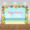 Happy Birthday theme party backdrop for photography cartoon design blue sky and sea sandy beach background for photo 495 1 order