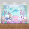 Mermaid Backdrop Fish Castle Coral Pearl Undersea Birthday Party Custom Backdrop Fund Camera Photographic Professional