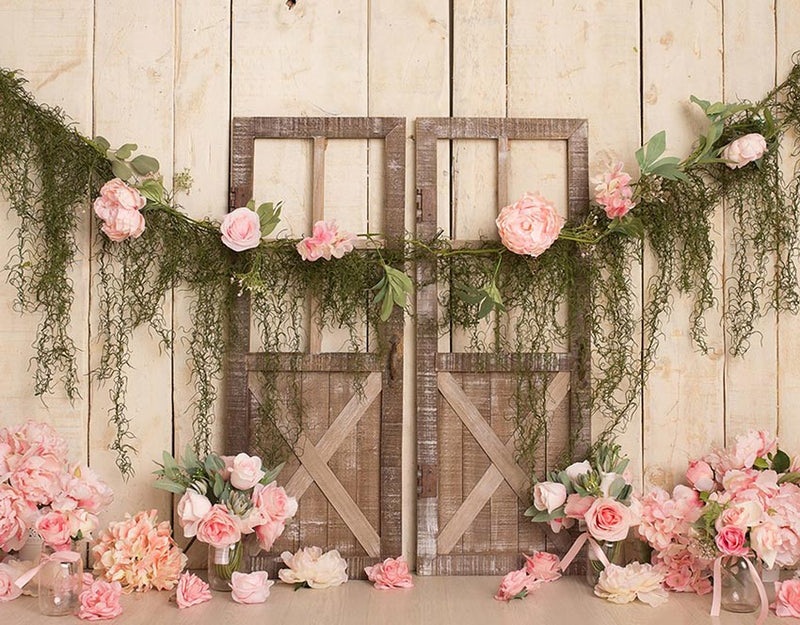 Newborn Baby Flower Photography Backdrops Floral Photographic Studio Photo Background Birthday Decorations Prop