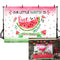 Watermelon Themed Girl First Birthday Photo Studio Background Pink Princess 1st One in a Melon Birthday Summer Fruit Party Decorations Banner Photography Backdrops for Dessert Table