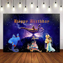 Photography Backdrop Aladdin Lamp Cartoon Princess Jasmine Backdrop Birthday Party Backgrounds Photo Studio Photocall Photo Prop