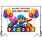 Photography Backdrop Cartoon Characters Pocoyo Birthday Party Baby Child Colorful Balloon Photo Backgrounds for Photo Studio