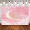 Twinkle Twinkle Little Star Background for Picture Moon Baby Photo backdrop Pink Kids Party Banner Background Clouds Decor