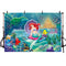 Photography Backdrop Under the Sea Ariel Princess Little Mermaid Rocks Corals Custom Photo Studio Backdrop Background