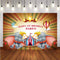 Baby 1st Birthday Photography Backdrops Custom Dumbo Elephant Circus Tent Happy Birthday Baby Child Photo Studio Backdrop