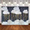 Photography Background Baby Shower Star Cloud Decor Blue Backdrop Photocall Photo Studio Backdrop Photo Prop