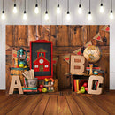 Photography Background Back To School Book Wood Party Planks Decor Backdrop Photocall Photo Studio Backdrop Photo Prop