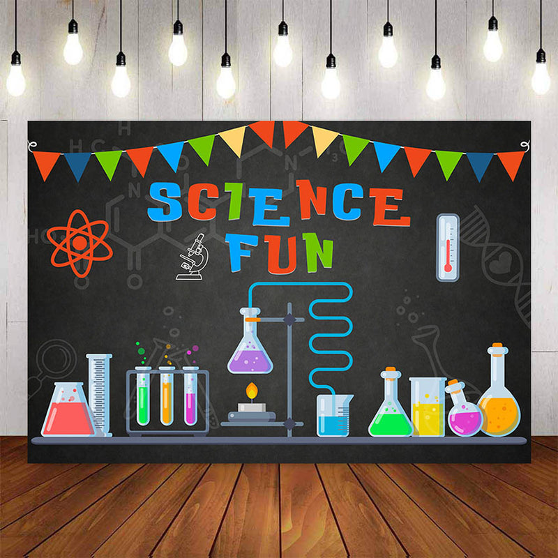 Photography Background Birthday Science Party Invitation Mad Scientist Invitations for Boys Photocall Backdrop Photo Studio
