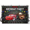 Photography Background Boys Birthday Party Red Cartoon Movie Characters Cars Decor Backdrop for Photo Studio Backdrop Photo Prop