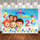 Photography Background Cocomelon Family Customize Cartoon Child Birthday Party Photographic Photo Studio Photo Prop