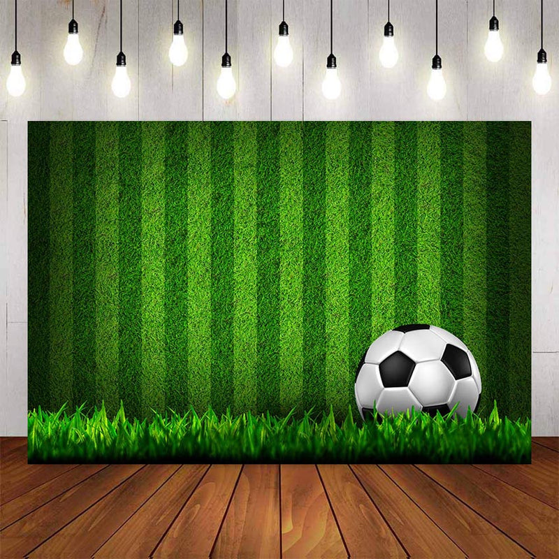 Soccer Photography Background Green Field Grass Soccer Party Backdrop Boy Baby Happy Birthday Party Decor Football Backdrop Photo Studio