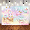 Photography Background Little Princess Baby Ice Cream Cake Decor Birthday Party Photocall Backdrop Photo Studio Banner