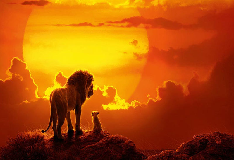Kids Photography Background The Lion King Simba Kids Birthday Backdrop Decor Photocall Backdrop Photo Studio Banner