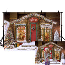 Snow Photography Backdrops Home Christmas Theme Background Backdrops Outdoor Decoration Props Xmas Vinyl photo Backdrop For kids