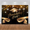 Photography backdrop graduation happy birthday party decoration black background for photo studio photocall photophone glitter