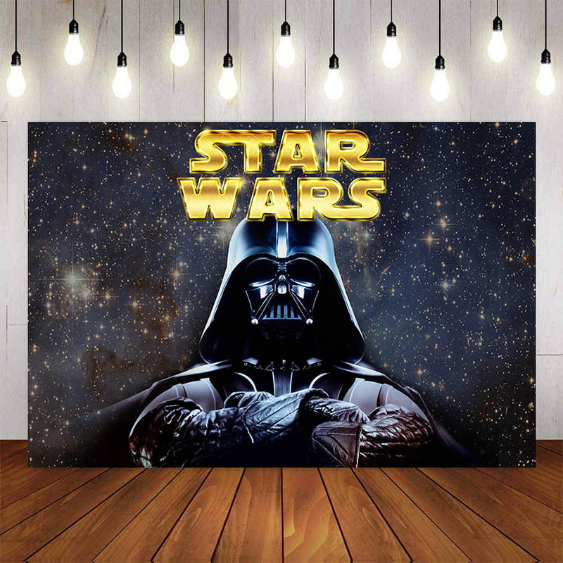 Photography background Boys Birthday Party Star Wars Backdrops Decor Photocall Photo Studio Backdrop Photo Prop