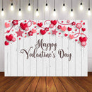 Wood Floor Photography Backdrops White Wooden Background Backdrops Props Valentine's Day Vinyl photo Backdrop Heart Love