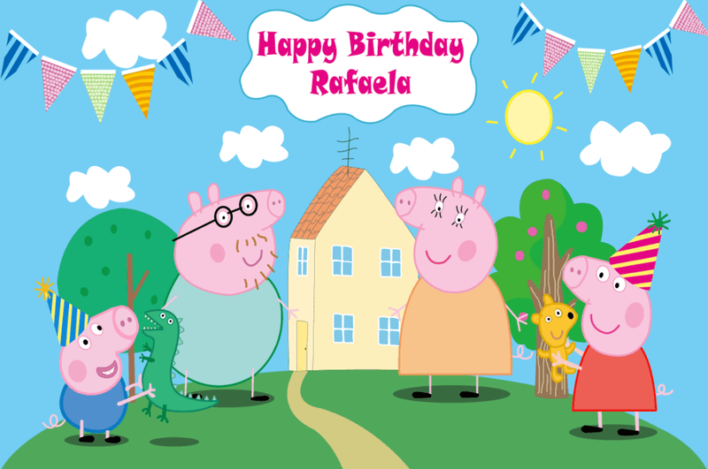 Peppa Pig Photography Backdrops Cartoon Backdrop For Photography Vinyl Photo Backdrops Kids Background For Photo Studio