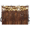 Rustic Wood Photography Backdrop Shinning Lights Vintage Wooden Backdrops Wedding Birthday Baby Shower Bridal Shower Background