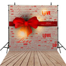 Valentine Party Photography Backdrops Wood Floor Photo Props Red Love Heart Valentine's Day Background Photo Studio